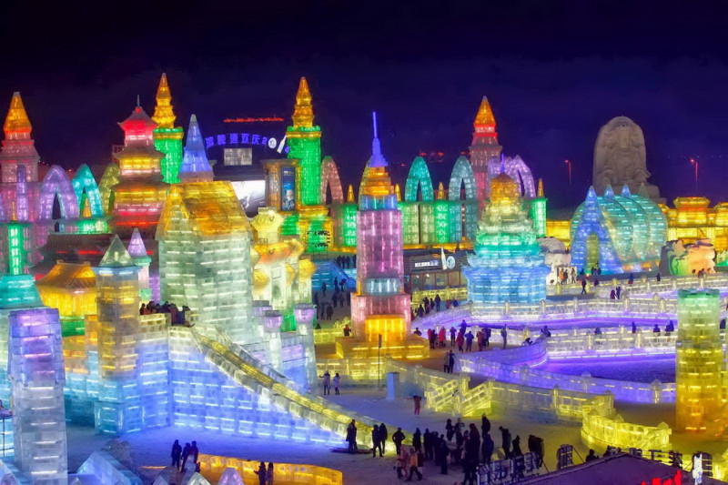 Международный фестиваль ледяных фонарей и скульптур, Харбин, Китай