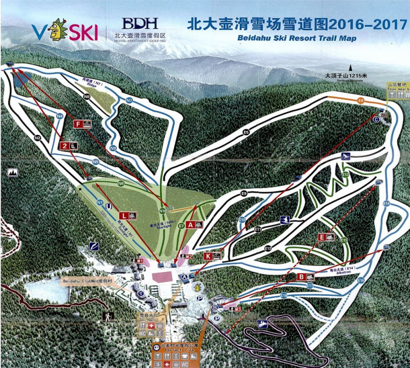 beidahu ski resort map